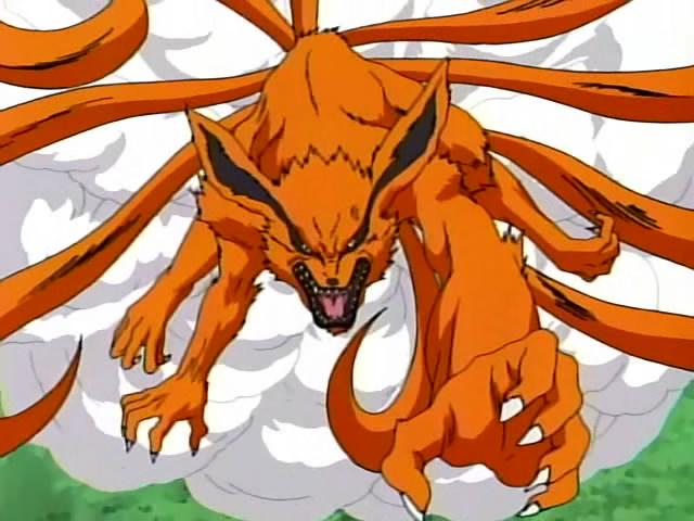 Kyubi ekor 9 naruto with energy as the kyubi 9 9999 anime wallpapers