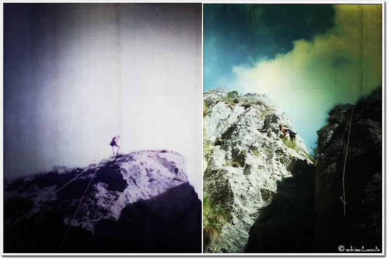 climbing on 'Turnu Seciu'