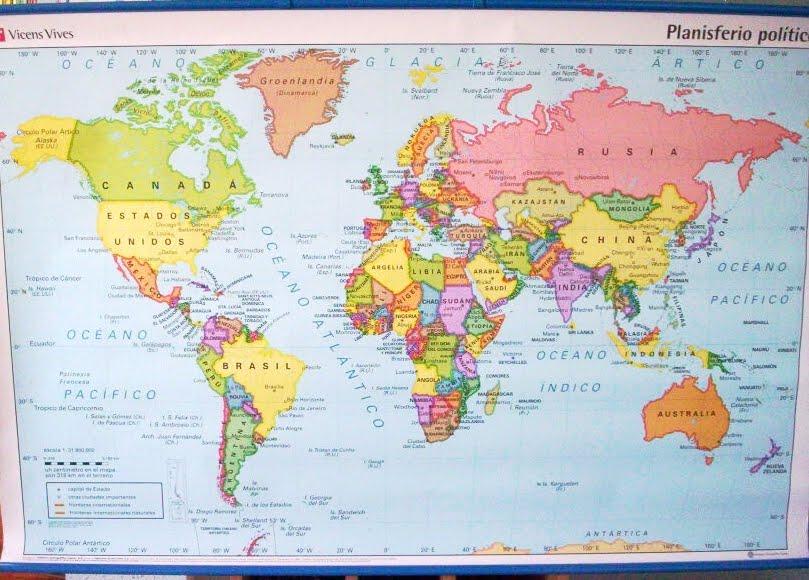 Planisferio sin nombres - Imagui
