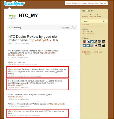 HTC Malaysia recognition on my HTC Legend review