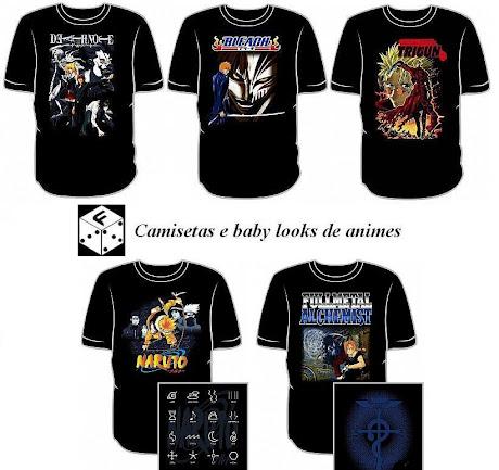 Camisetas de animes na fusion