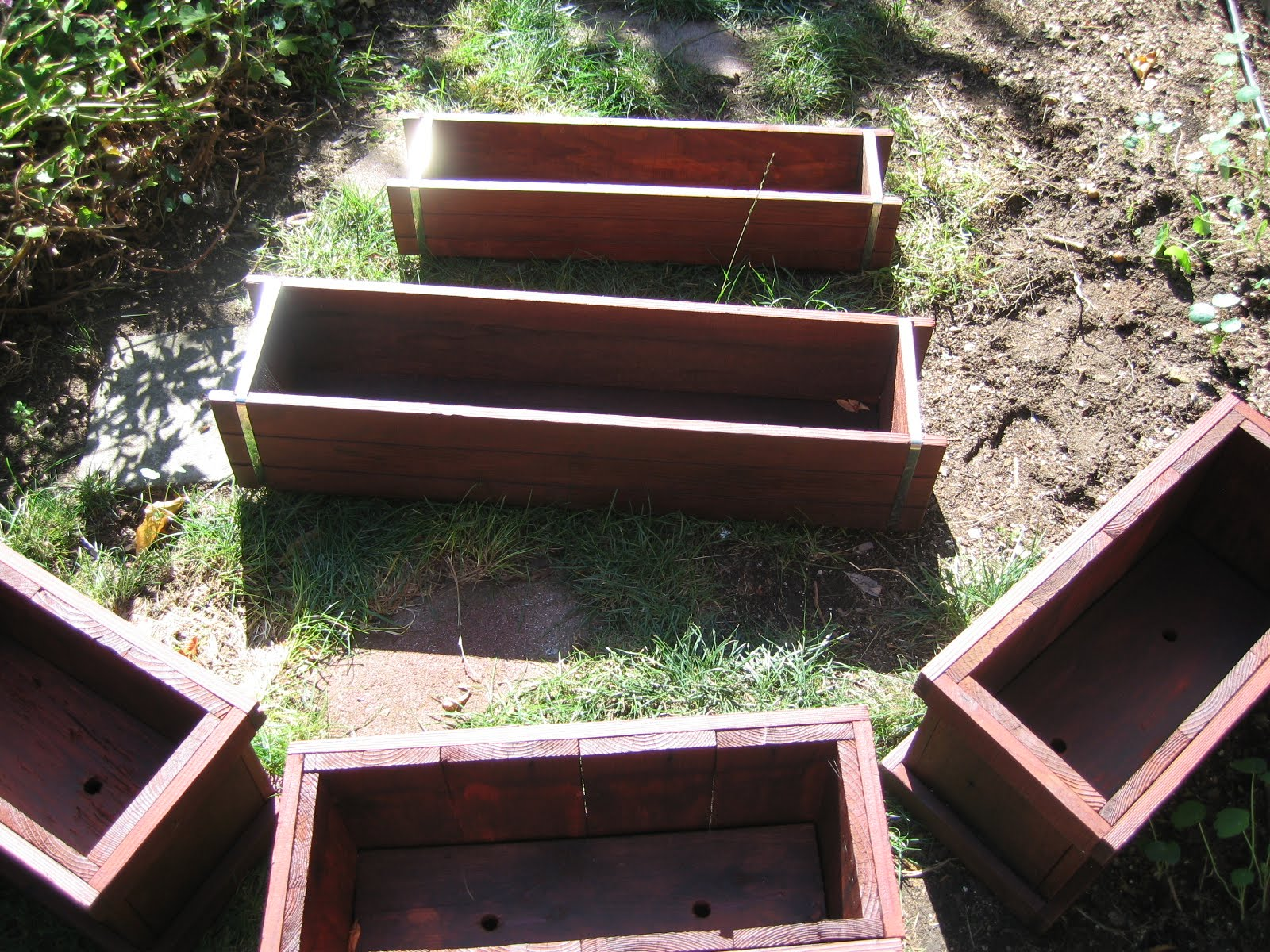 for sale sold redwood planter box set 50