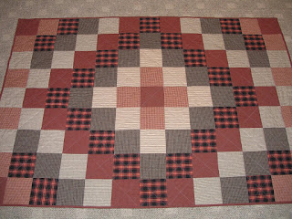 Trip Around The World Quilt Pattern Lap Size : Sew in Peace: Flannel Lap Quilt