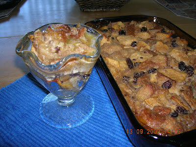 This dessert uses lower-fat ingredients. Apples and whole grain bread ...