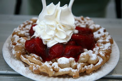 Funnel Cake With Strawberry Topping Calories
