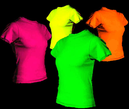 Fashion for Neon coloured t shirts