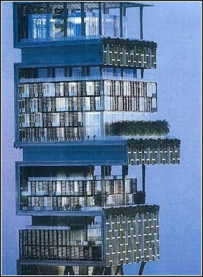 Antilla - the world's largest And expensive private home  Antilia-largest-private-home-02
