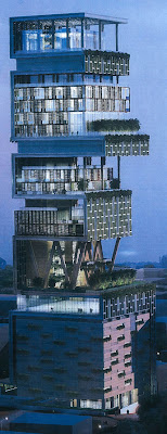 Antilla - the world's largest And expensive private home  Antilia-largest-private-home-04
