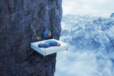 Sleeping Dangerously - Mountain Sleeping Seen On www.coolpicturegallery.us