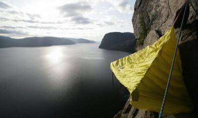 Sleeping Dangerously - Mountain Sleeping Seen On www.coolpicturegallery.us