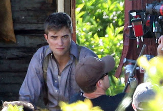 "robert pattinson water for elephants set pic 2 - Trailer de ""Water for Elephants"". Sale Pattinson sin ser vampiro!"