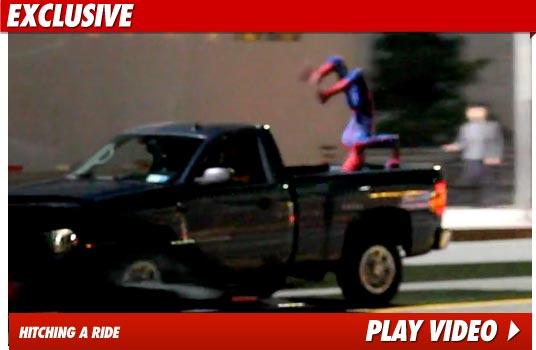 011810 spiderman video - Video desde la filmacion de Spiderman!