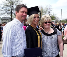 Maria graduation with mom and dad