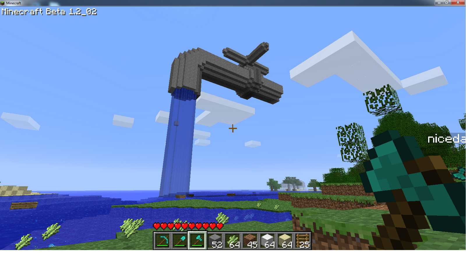 This is a cool little optical illusion from Minecraft