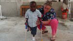 Three year old Clifford who had not walked in 3 months until we gave him some crutches.