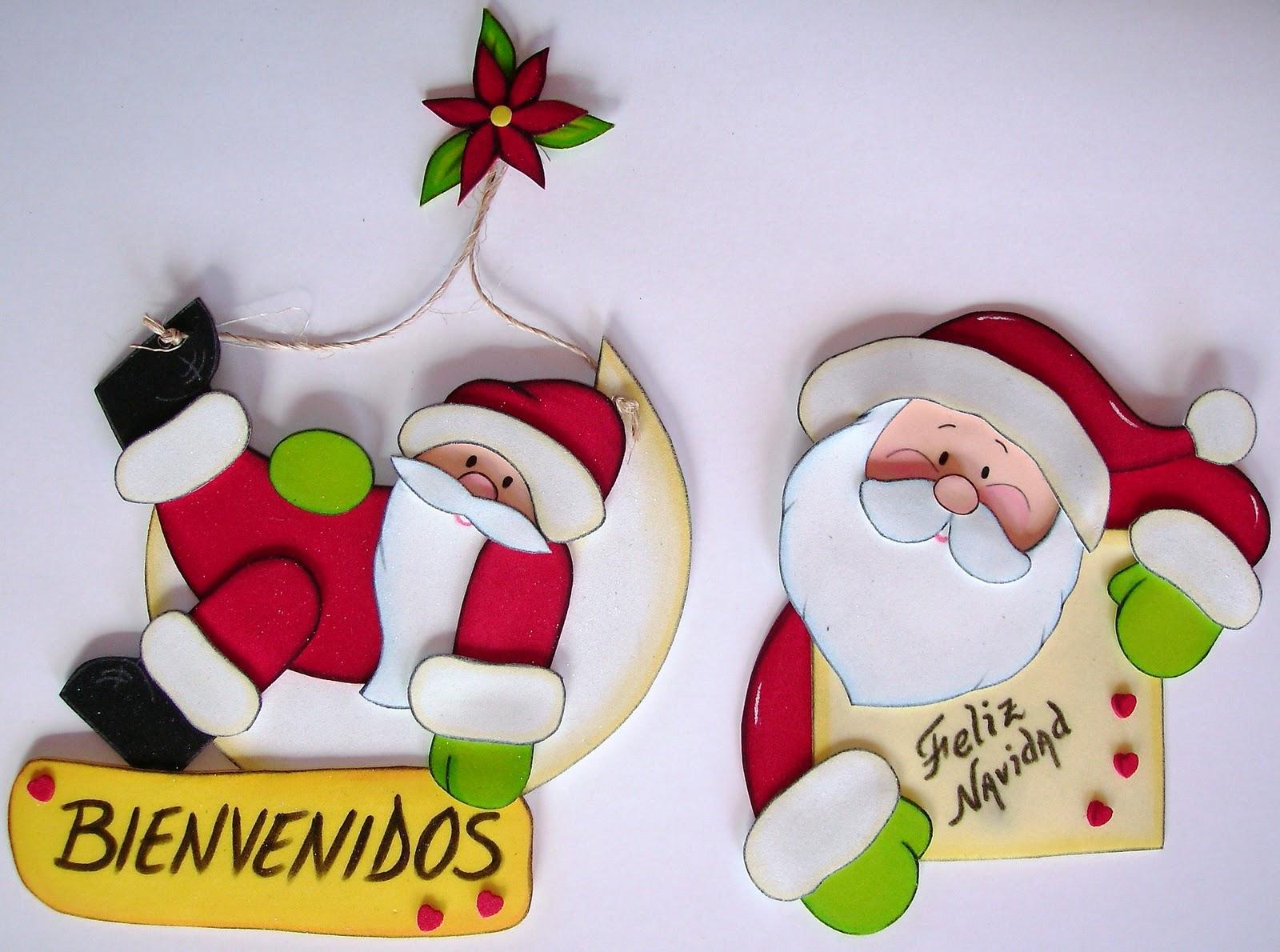 Adornos navidenos en foami para la nevera