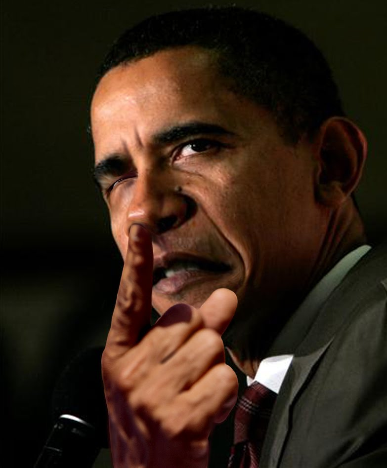 obama picking nose