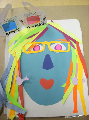 Op Art 3-D Self Portraits! One of my very favorite art lessons