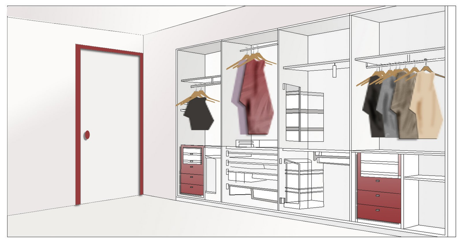 The dressing room is a small yet crucial part of your home ...