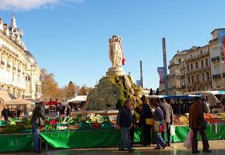La place de la Comédie à Montpellier et ses manifestations