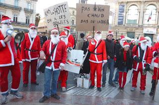 Montpellier : Père Noël en révolte