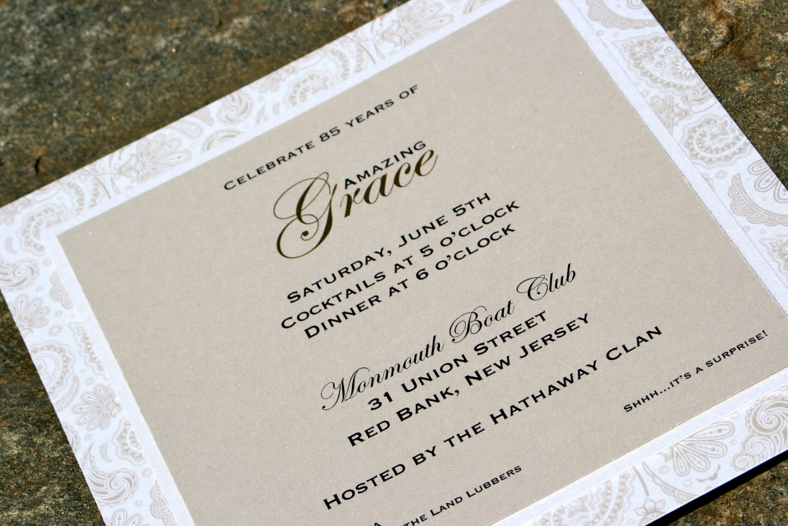 kreative event services the heidi squared 3 layer invitation with