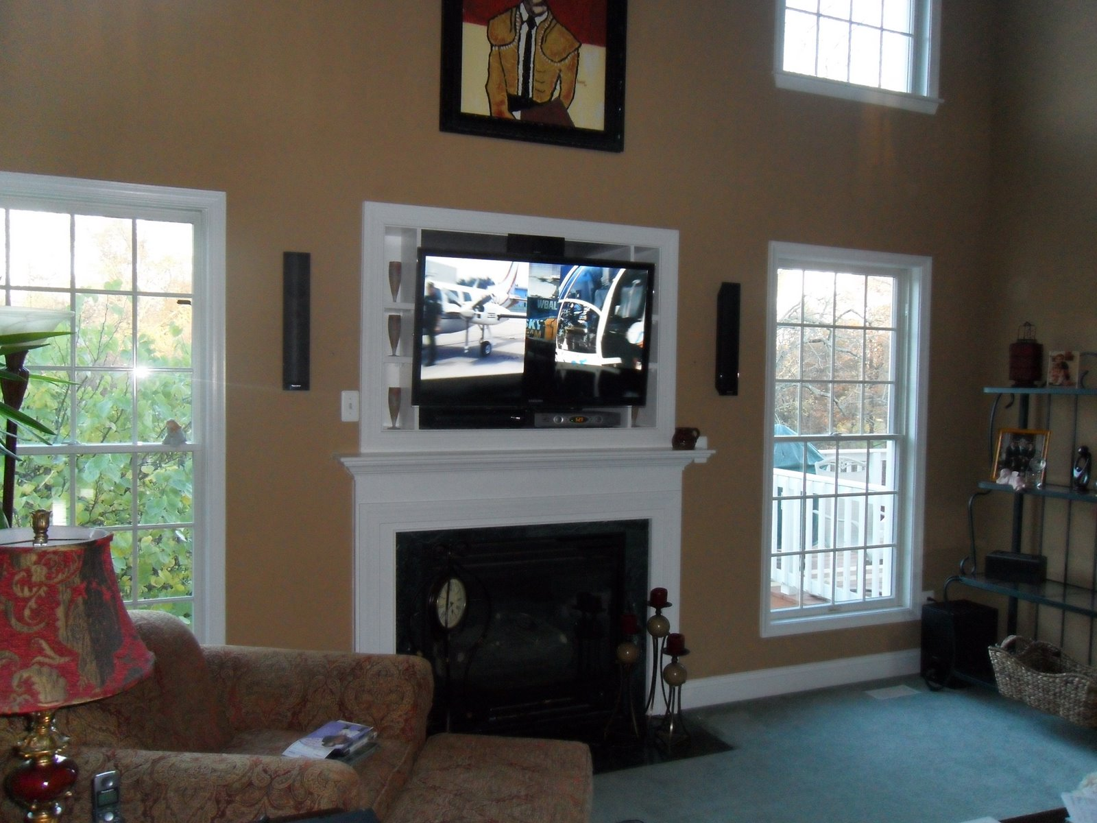 ... Installation Maryland: LED TV installed above fireplace in Bel Air, MD
