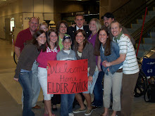 WELCOME HOME ELDER ZWICK!