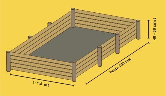 lombricultura construccion de camas