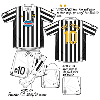 1a7856609de Football teams shirt and kits fan  Juventus Serie B 2006-07 Nike ...