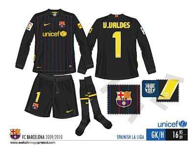 barcelona fc jersey 2010. FC Barcelona goalkeeper strip