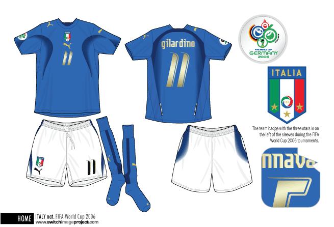 Pes miti del calcio view topic italy 2006 world champion for Italian kit