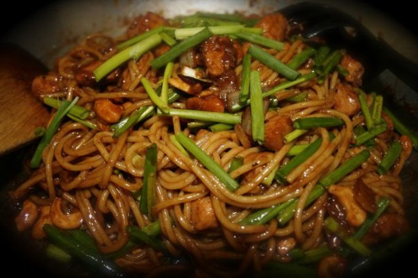 Kung Pao Chicken Spaghetti
