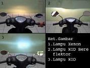 lampu motor terang
