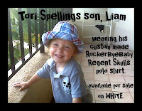 Tori Spellings son, Liam in RockerByeBaby