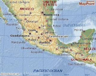 Piramida Teotihuacan Map