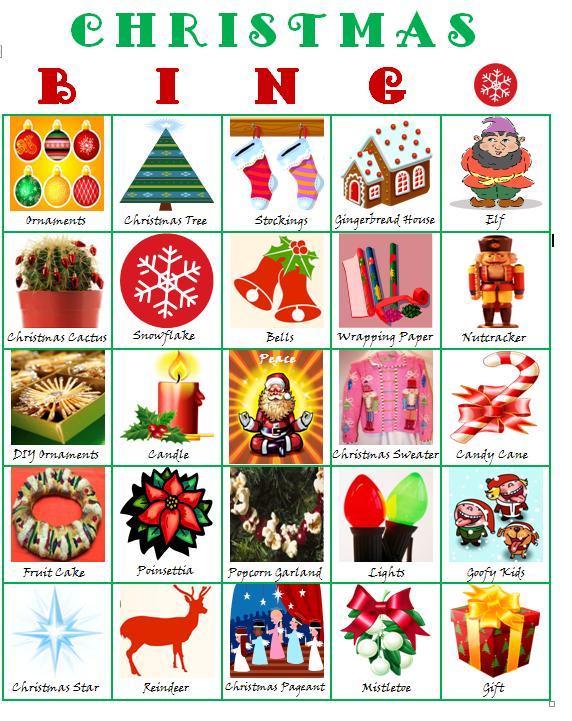 Free Christmas Clip Art for Bingo