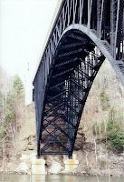 french king bridge, rock, france, new france, rapids, massachusetts, mohawk trail