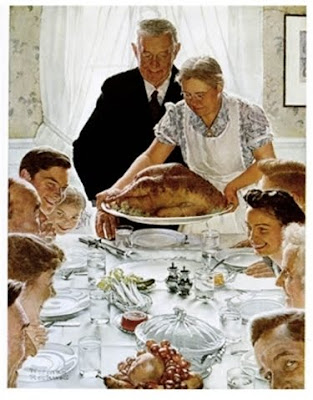 rockwell, freedom, want, stockbridge, museum, turkey, thanksgiving, illustration