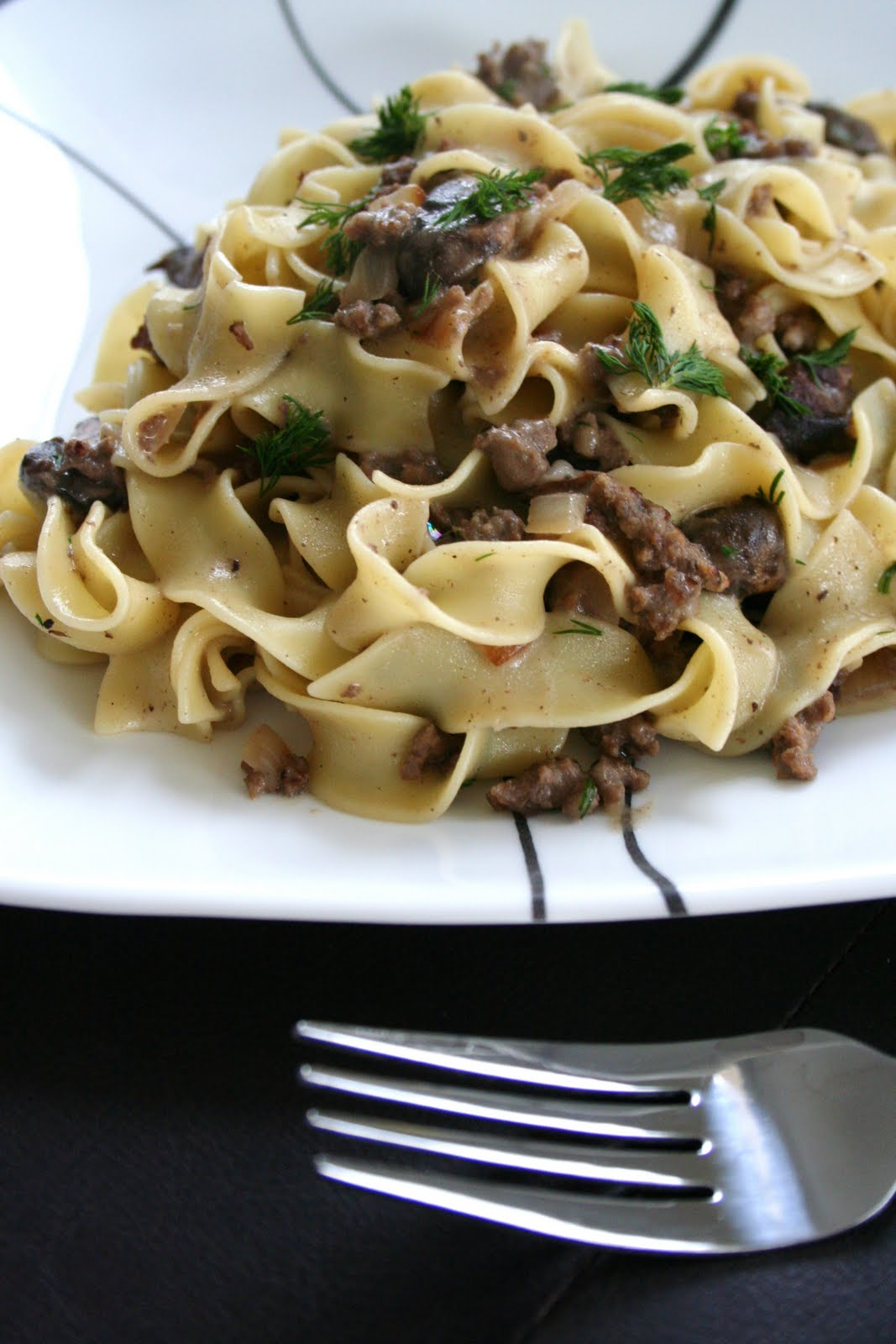 Beef Stroganoff with Red Wine, Dijon & Dill