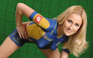 Soccer Body Painting on Women