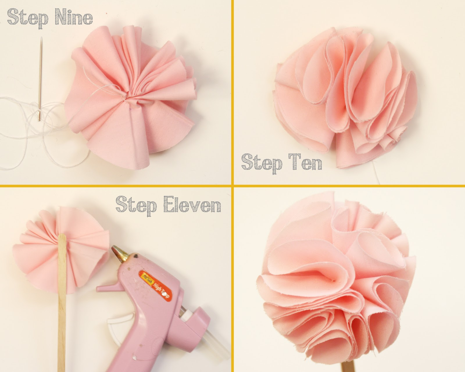 DIY Fabric Flowers Tutorials