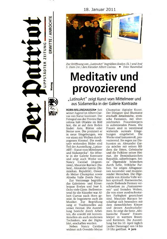 Diario/Prensa:Expociòn latin Alemania