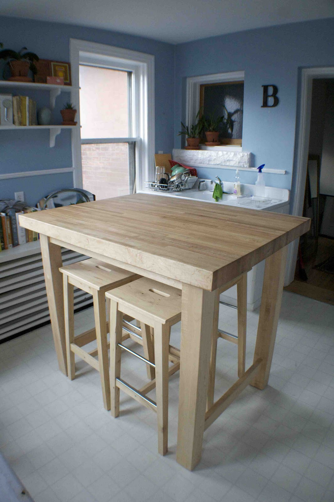 Almamade Solid Maple Kitchen Island