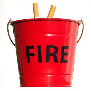Divertida forma de apagar el fuego