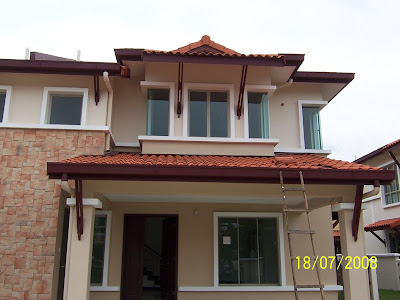 ... instance, the roof leaking at the car porch was re-constructed and
