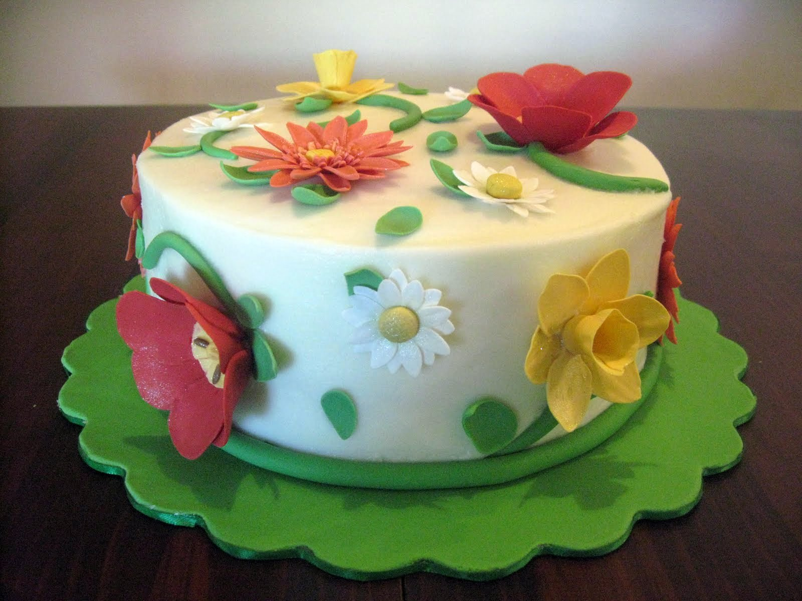 Stuff by stace spring flowers birthday cake to throw a stick of salted butter in my buttercream to tone down the sweetness a bit there are more cakes in the future so i will try that next time izmirmasajfo Choice Image