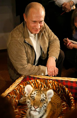 Putin gets Tiger as Birthday Gift