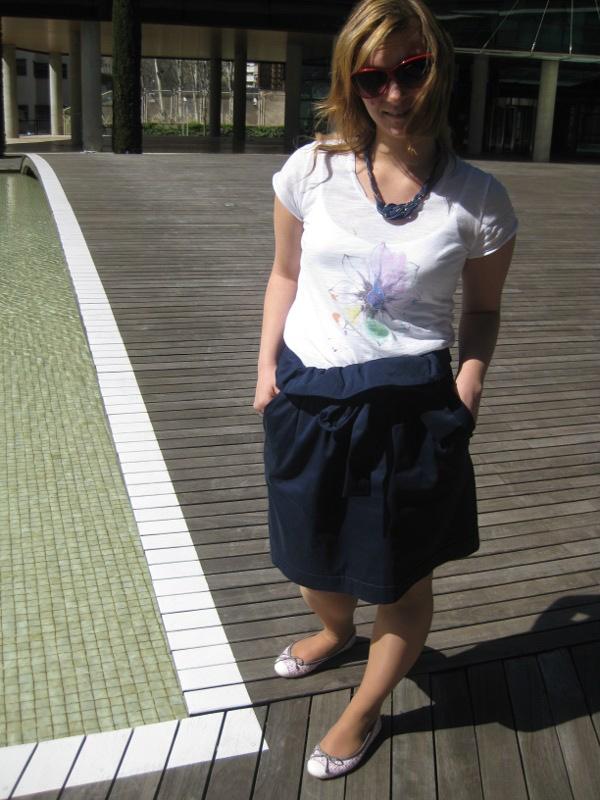 hazel skirt, pretty ballerinas, street style, spring