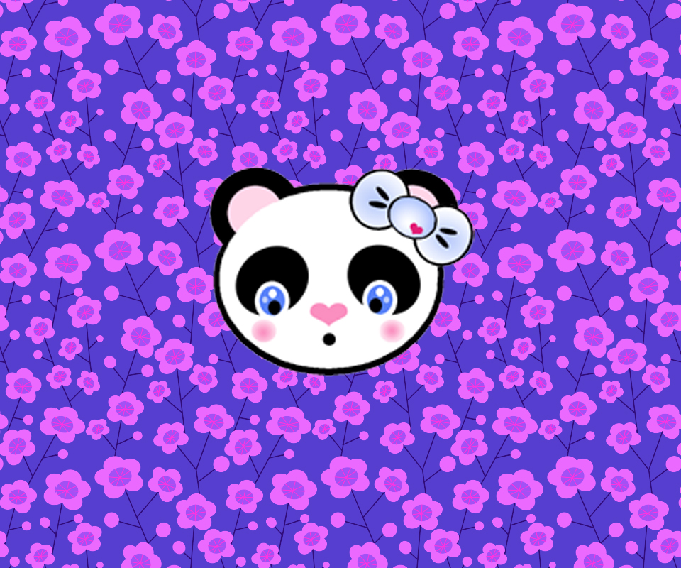 Just Me My Evos Kawaii Panda Wallpaper